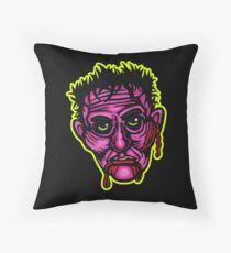 Pink Zombie - Die Cut Version Throw Pillow