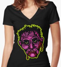 Pink Zombie - Die Cut Version Women's Fitted V-Neck T-Shirt