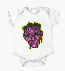 Pink Zombie - Die Cut Version Short Sleeve Baby One-Piece