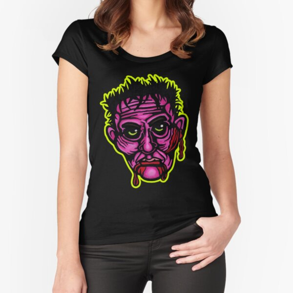 Pink Zombie - Die Cut Version Fitted Scoop T-Shirt