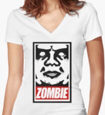 zOmBEY Women's Fitted V-Neck T-Shirt