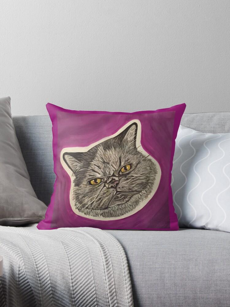 Blue the Persian Cat by artsybarncat