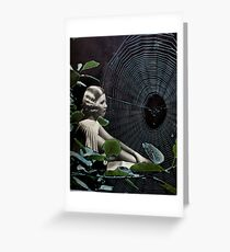 Secrets in the Spiderwebs Greeting Card