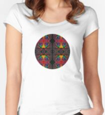 Abstract 0101f Women's Fitted Scoop T-Shirt