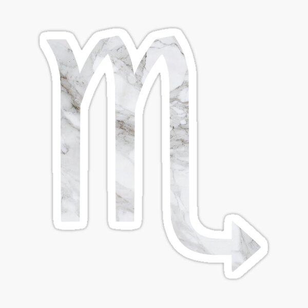 Marble Scorpio  Sticker
