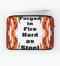 Forged in Fire, Hard as Steele Laptop Sleeve