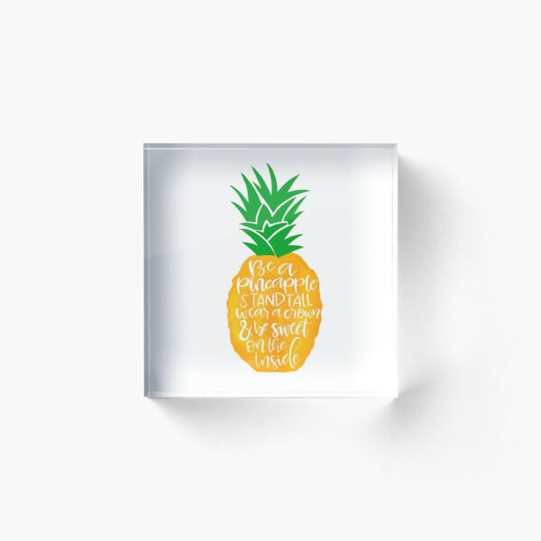 Pineapple Acrylic Block