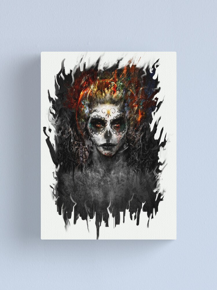 Alternate view of la muerte Canvas Print