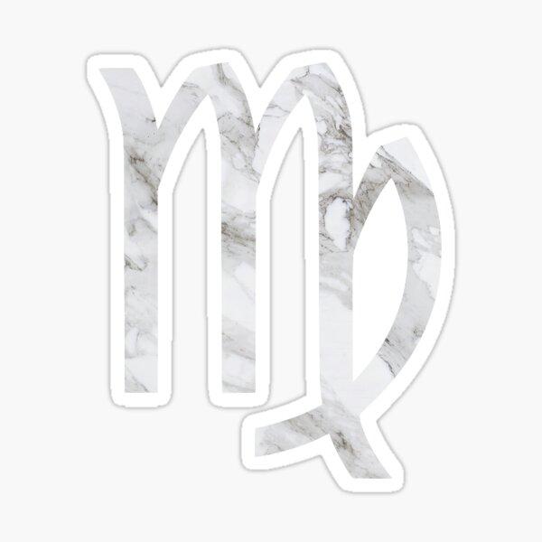 Marble Virgo Sticker