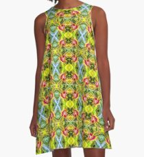Anthurium - Hawaii Plant Series  A-Line Dress