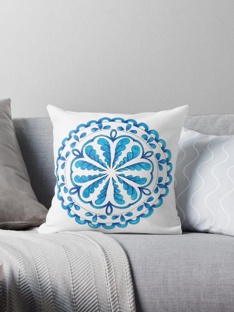 Turquoise calm mandala by Arttally