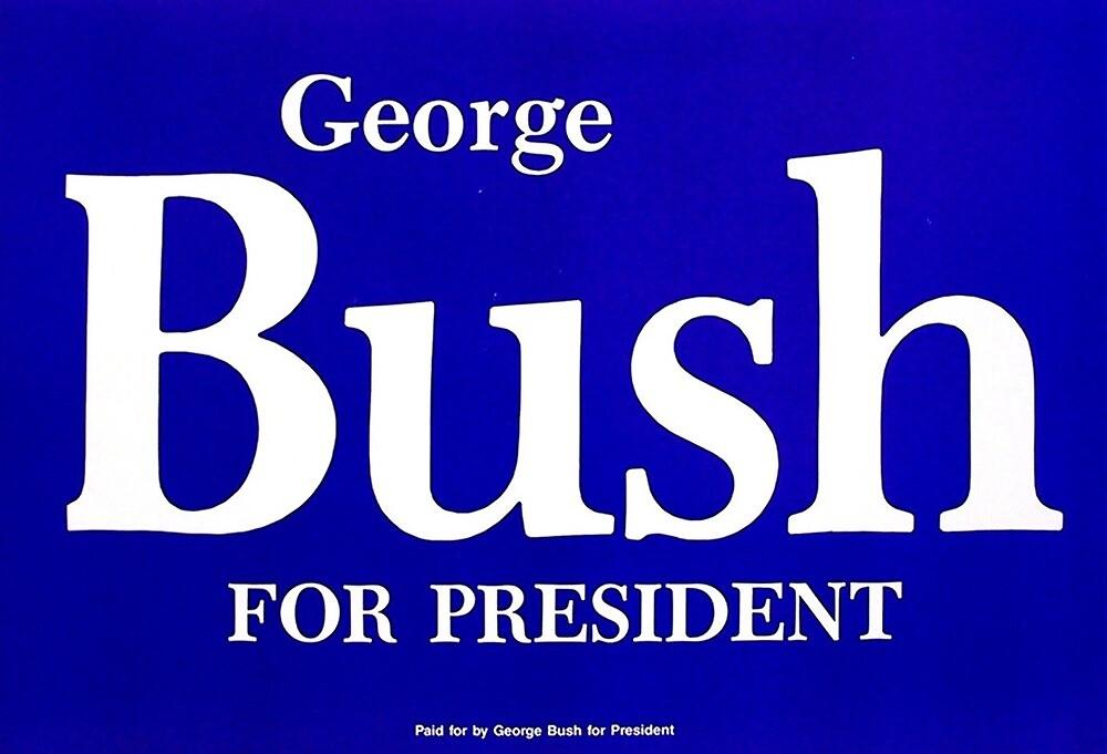 George Bush for President sticker by haff32