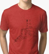 To The Moon Lighthouse Tri-blend T-Shirt