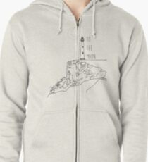 To The Moon Lighthouse Zipped Hoodie