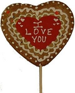 Giant Heart Valentine's Cookie Pop, Personalized by LiyaGrey