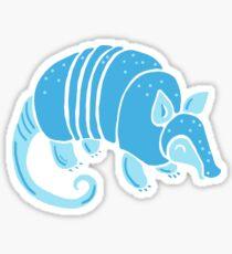 Blue Armadillo Sticker