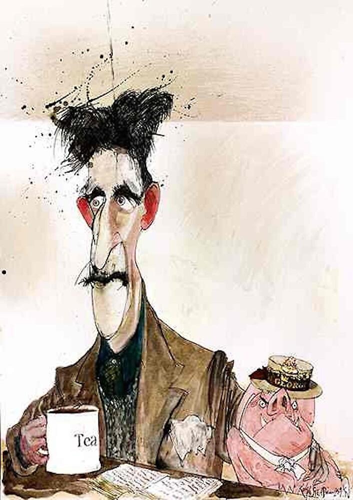 George Orwell Painting by nicknickb