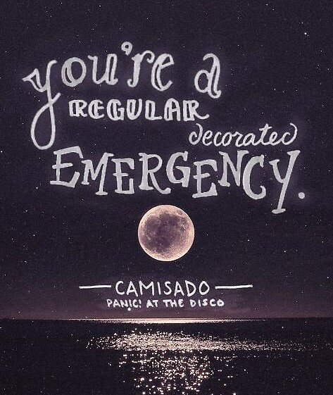 You're Regular Decorated Emergency - P!ATD by astralandra