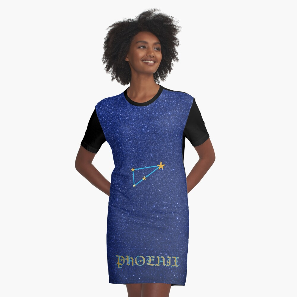 Constellations - PHOENIX Graphic T-Shirt Dress Front