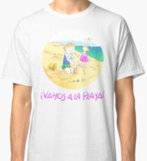 ¡Vamos a la playa, niños!  -  Let´s Go to the Beach, Kids!  - Auf zum Strand, Kinder! Camiseta clásica