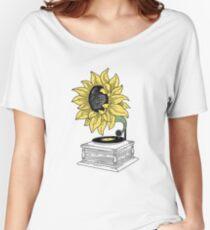 Camiseta ancha para mujer Cantando bajo el sol