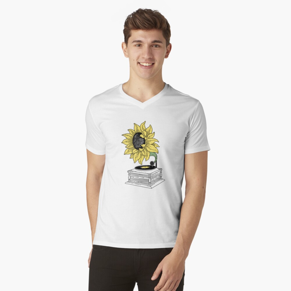 Singing in the sun V-Neck T-Shirt