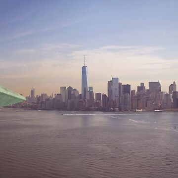 View of Manhattan Island from the Crown of the Statue of Liberty by NYStateofMind
