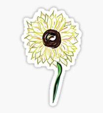 Twisted Painted Sunflower  Sticker