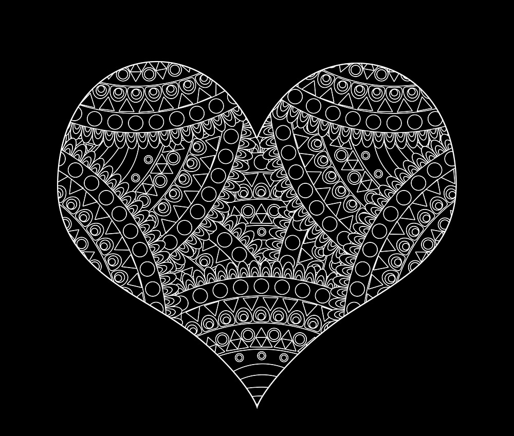 Lace heart - inverted by adiosmillet