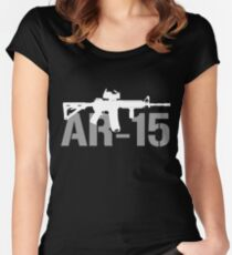 AR15 Gun Shirts Funny AR 15 T Shirts For Men Women's Fitted Scoop T-Shirt