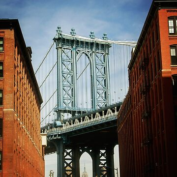 Empire State Building through the Manhattan Bridge by NYStateofMind