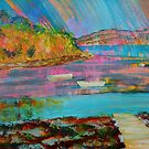Salcombe Devon landscape painting by MikeJory