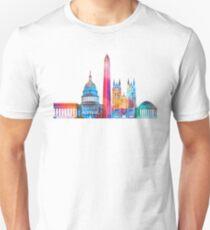 Washington DC landmarks watercolor poster Unisex T-Shirt