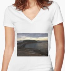 Beautiful gloomy day at La Perouse, Sydney, Australia  Women's Fitted V-Neck T-Shirt