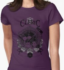 RPG Class Series: Cleric - Black Version Womens Fitted T-Shirt