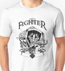 RPG Class Series: Fighter - Black Version Unisex T-Shirt