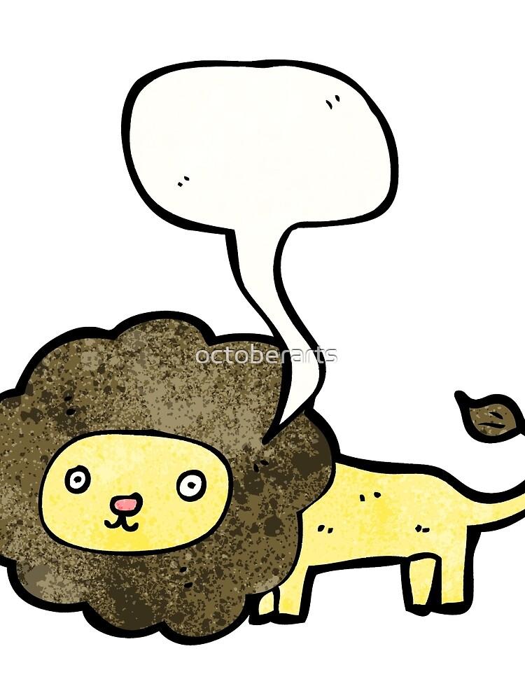 talking lion cartoon von octoberarts