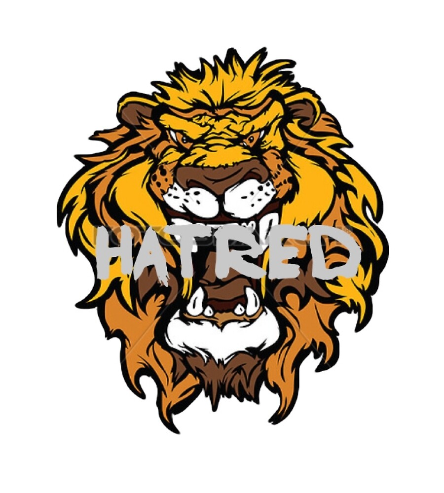 Lion t shirt Hatred by Berkaneismael