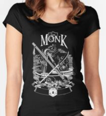 RPG Class Series: Monk - White Version Women's Fitted Scoop T-Shirt
