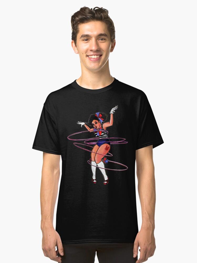 Acrobatic Hula Hoop Girl Classic T-Shirt Front