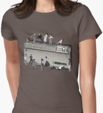 Portable Music from the 50's Womens Fitted T-Shirt