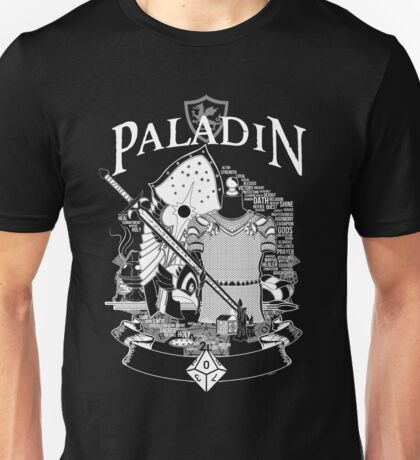 RPG Class Series: Paladin - White Version Unisex T-Shirt