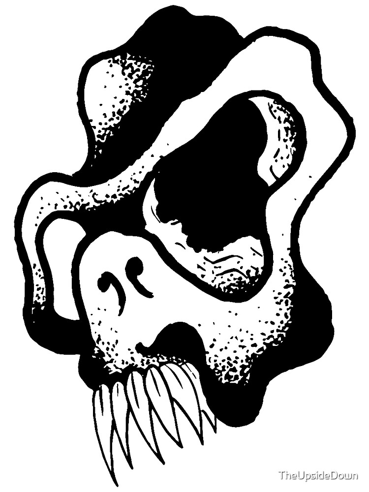 Gnarled Skull - A80 by TheUpsideDown
