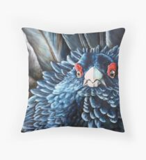 Scottish Capercaillie Original Acrylic Painting by Jane Green Throw Pillow