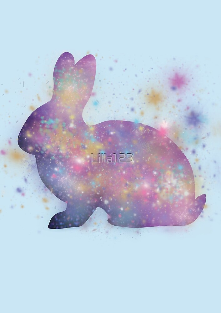 Space Splatter Rabbit by Lilla123
