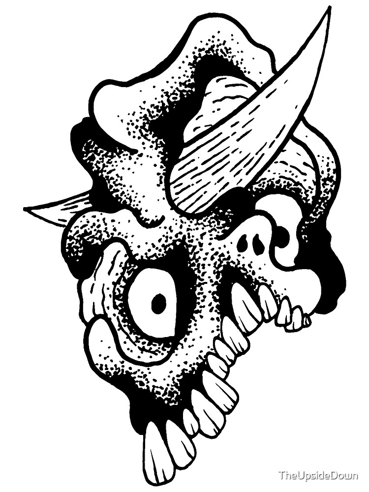 Gnarled Skull - A86 by TheUpsideDown