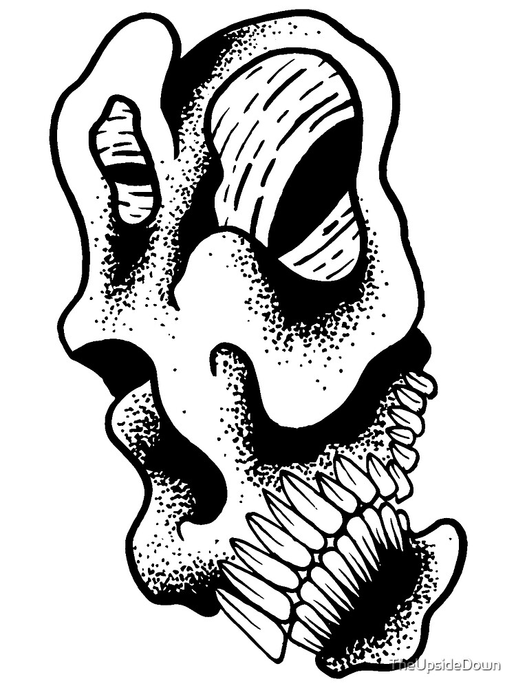 Gnarled Skull - A88 by TheUpsideDown
