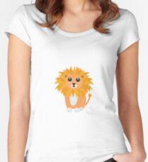 Cute kawaii lion Women's Fitted Scoop T-Shirt
