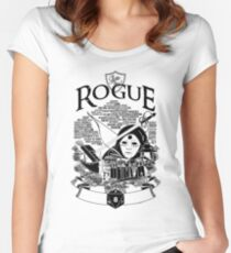 RPG Class Series: Rogue - Black Version Women's Fitted Scoop T-Shirt