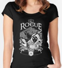 RPG Class Series: Rogue - White Version Women's Fitted Scoop T-Shirt